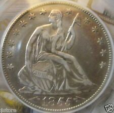 WOW! VERY NICE CHOICE 1855-O WITH ARROWS SEATED LIBERTY HALF DOLLAR