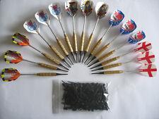 15 flechettes laiton darts à  pointes plastiques + 100 pointes