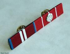 Canada Queen Diamond Jubilee & Canadian Decoration 1  Rosettes Medal Ribbon Bar