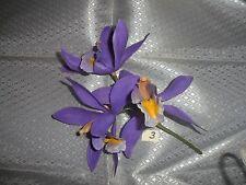 1 Vintage stem of Purple Plastic Orchids