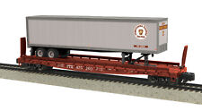 MTH S Gauge Pennsylvania Flat w/Trailer Scale Wheels 35-76028