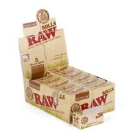 RAW Rolls Organic Unbleached Cigarette Rolling Papers Paper Box24