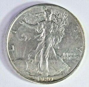 1920 50C Walking Liberty Silver Half Dollar (YE)(1-5832) 99c NO RESERVE
