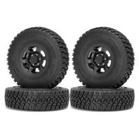"4 Pcs 1.55"" Tire & Wheel Rim for 1/10 RC D90 TF2 Tamiya CC01 LC70 RC Crawler Car"