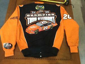 Vintage NASCAR 2005 Tony Stewart #20 Championship Jacket Jh Design NWT Med NOS