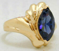 TANZANITE 2.20 Carats RING 10k SOLID YELLOW GOLD *Free Shipping Service*