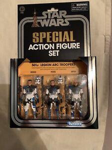 Vintage Set Star Wars 3.75 inch 501st Legion Arc Troopers - 3 Piece