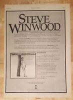 Steve Winwood  1977 press advert Full page 28 x 38 cm poster
