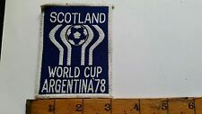 VINTAGE/RETRO CLOTH PATCH EMBROIDERED BADGE SCOTLAND WORLD CUP ARGENTINA 1978