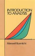 Introduction to Analysis (Dover Books on Mathematics) by Maxwell Rosenlicht