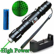 Military 10Miles 532nm Green Laser Pointer Pen Beam Light High Power Lazer Cap Y