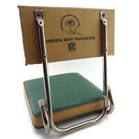 Vtg Green Bay Packers Football Stadium Seat Game Folding Chair Backrest Bleacher