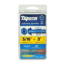 Tapcon Concrete Screw Anchor 5/16 in. Dia. x 3 in. L 15 pk Drill bit included