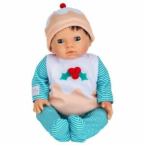 Tiny Treasures Christmas Pudding Outfit With Hat Cute 44cm Doll Outfit NEW