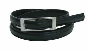 B30 Slim Plain Ladies Belt/ Pin Buckle/ Faux Leather/ Super Value ***