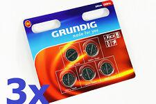 NEU 15x CR 2016 Lithium Batterie Batterien 70 mAh Knopfzellen   GRUNDIG