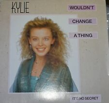 """Kylie Minogue Wouldn't Change a Thing 7"""" Vinyl UK Issue Pressed in France PWL"""