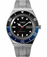 New Timex M79 Q Reissue Men's Automatic Watch 40mm Stainless Steel Bracelet_A