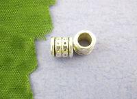 80 Antiksilber Tube Spacer Perlen Beads 6x6mm