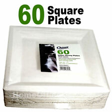 60 Chinet Strong 24cm Square Disposable Plates Wedding /party Functions Etc