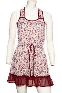 Verkauf Jetzt Damen ex-chain store Weinrot Blumenmuster Kleid