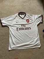 ARSENAL LONDON 2007/2008 AWAY FOOTBALL SHIRT JERSEY NIKE SIZE XL Adult