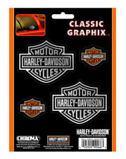 Harley-davidson Bar & Shield 4-piece Decal Set Stickers Cg99066