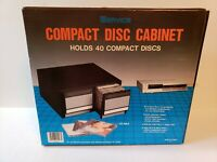 Vintage Service Brand new in box CD Compact Disc Storage Case Cabinet 40 cd's