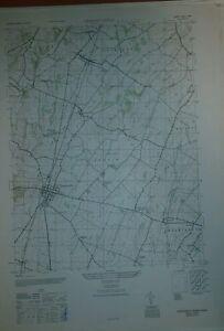 1940's Army Topo Map Greencastle Pennsylvania Sheet 5463 I SW