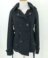 Ashley by 26 International Belt Button Front Coat Size S Hooded Overcoat Jacket