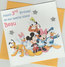 Personalised Mickey Mouse & Friends Birthday Card -  Daughter, Son, Sister etc