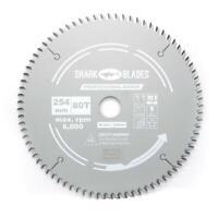 Shark Blades TCT Mitre saw blade 254mm x 80T PRO Fits Bosch Makita Metabo etc