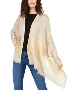 NWT Calvin Klein Women's Metallic Colorblock Rectangular Wrap Scarf. A9WS5916