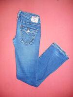 True Religion BILLY - Ladies Blue Denim Jeans - Waist 28 Leg 33 - B565