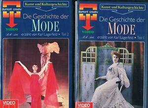DIE GESCHICHTE DER MODE erzählt von Karl Lagerfeld Teil 1 & 2 VHS Video Kassette