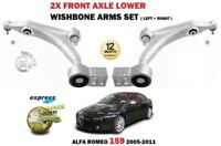 FOR ALFA ROMEO 159 2005-2011 2X FRONT LEFT + RIGHT LOWER WISHBONE SUSPENSION ARM