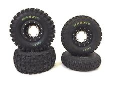 Hiper Tech 3 Beadlock Wheels Maxxis Razr 2 Tires Front Rear Kit Honda TRX 700XX