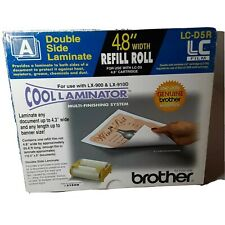 """Brother LC-D5R Cool Laminator 4.8"""" Refill Roll Film Double Side Laminate New"""