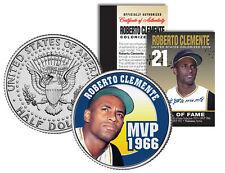 ROBERTO CLEMENTE 1972 JFK Kennedy Half Dollar Colorized U.S. Coin * MVP *