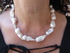 collana argento 925  perle barocche