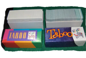Replacement Full Set of Cards For 1989 & 2000 TABOO Game Pieces Parts Board Card