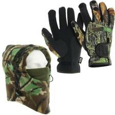 NGT Deluxe Camo Snood & Neoprene Fishing Gloves With Foldback Fingers L, M XL