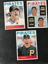 2013 TOPPS HERITAGE Pirates Lot-10 cards-Including Black Back Grilli #63, SP's