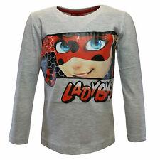 T-Shirt Original Miraculous Ladybug Chat Noir Offiziel Weiß Jersey Lady Bug