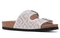 SONOMA Goods for Life Women's Buckle Slide Footbed Sandals Size 8 $54