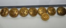 8 x WW1 Royal Naval Reserve officers Gilt Tunic Buttons various makers