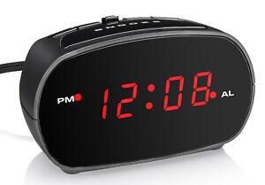 "Westclox Digital 0.6"" Red LED Display Electric Alarm Clock (Black) 71043"