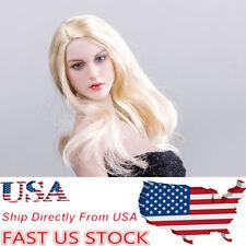 USA KIMI TOYS 1/6 Red Cap Girl Head Model Female Headsculpt KT007 F 12'' PH Body