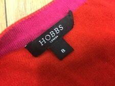 HOBBS Ladies Silk, Cotton, Cashmere Coral Red Cardigan Size 8