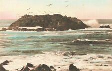 Postcard Bird Rock near Canyon Point Carmel California
